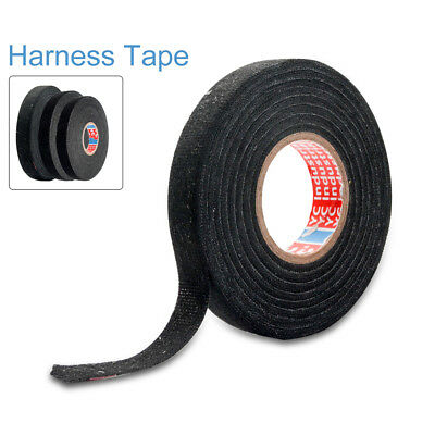 TAPE PET FLEECE ADHESIVE CLOTH FABRIC WIRING LOOM HARNESS 9/15/19mm x 15M/25M US