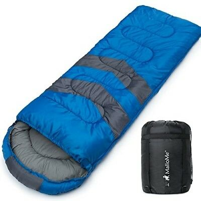 3 Season Warm Cool Weather Camping Sleeping Bag Lightweight for Adults Kids