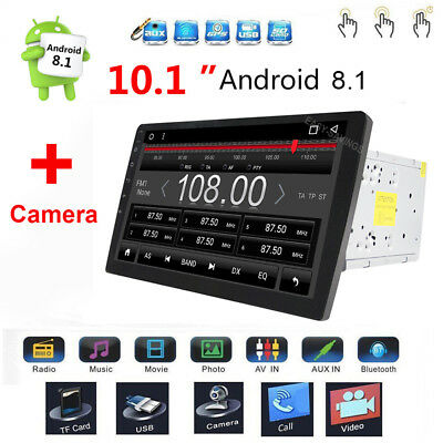 "Android 8.1 10.1"" 2Din Car Stereo Radio MP5 Player GPS Navi Touch Screen + CAM"