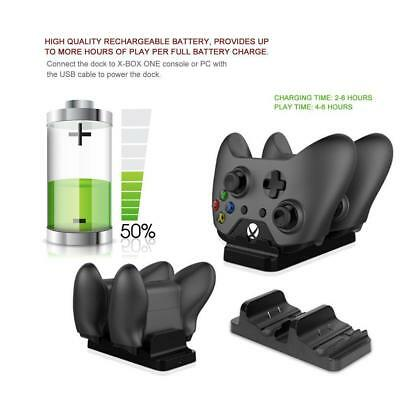 Dual Charging Dock Station Controller Charger 2 Extra Battery Pack For XBOX ONE