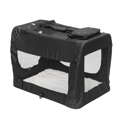 Dog Crate Soft Sided Pet Carrier Foldable Training Portable Cage House Black XL