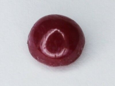 Natural Red Cabochon Ruby 1.79ct Loose Gemstone Round 6.6mm or use as 7mm Afghan