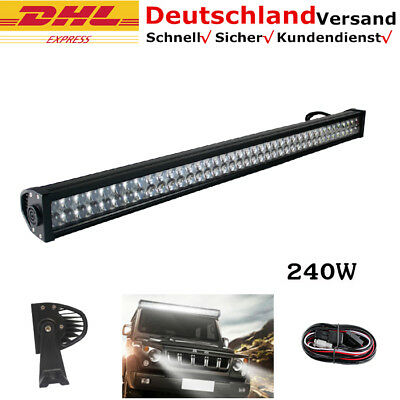 "42"" 240W LED Bar Offroad LED Arbeitsscheinwerfer Lichtbalken For Jeep Pickup 12V"