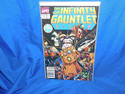 Infinity Gauntlet  #1 NEWSSTAND UPC Variant Thanos Avengers Silver Surfer VF/NM