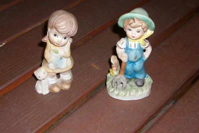 Couple enfants  en porcelaine biscuit