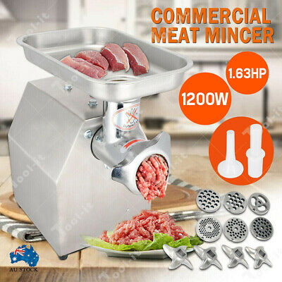 1200W Commercial Meat Mincer Electric Grinder & Sausage Maker Filler 150 Kg/H