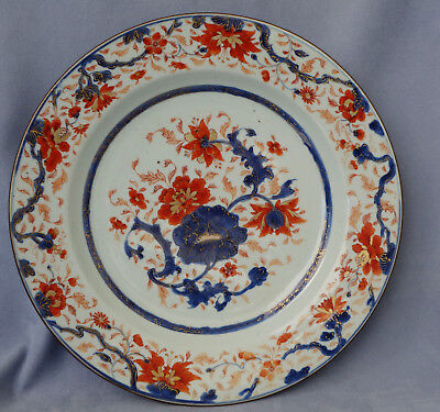 CHINE - Grand Plat en Porcelaine Imari de Chine Antique Chinese Dish XVIIIème