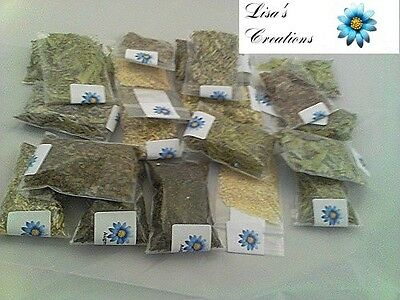 90 HERB KIT Pagan Wiccan Resins, Muslin Bags & White Sage included