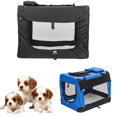 Sleep Dog Crate Soft Sided Pet Carrier Foldable Training Kennel Pet Dog Cage