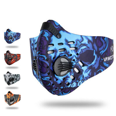 Unisex Outdoor Anti Smoke Dust Air Purifying Face Mask Carbon Filter multi layer