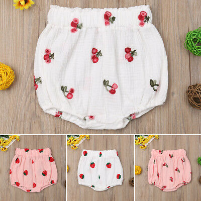 UK Newborn Baby Girls Floral Panties Bottoms Toddler Bloomer Diaper Cover Briefs