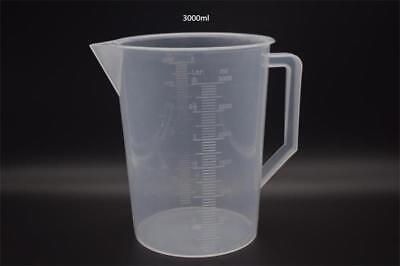 Hydroponics 3000ml 3L Litre Plastic Measuring Jug Liquid Nutrients Water Cooking