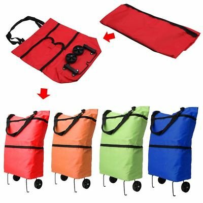 Folding Shopping Bag Trolley Grocery Lightweight Hand Bag Foldable With Wheels