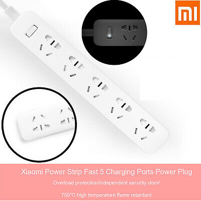 Xiaomi Power Board Strip Fast 5 Outlets Socket Charger Ports Protection Plug