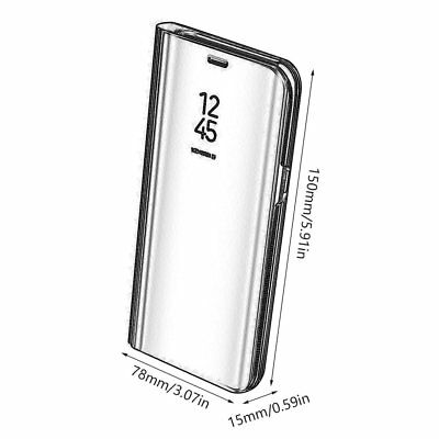 Newest Electroplated Smart Mirror Stand Case Mobile Phone Shell Flip Cover IZ