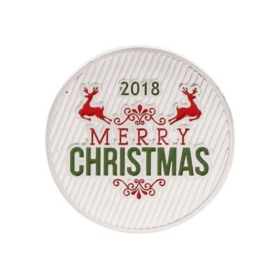 Christmas Commemorative Coin Santa Claus Deer New Year Collection Silver Craft