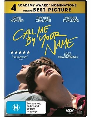 Call Me By Your Name (Dvd, 2018) 🍿 [Brand New & Sealed]