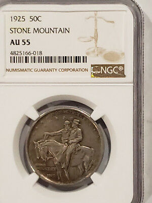1925 Stone Mountain Commemorative 50c Certified NGC AU-55 - Nice !