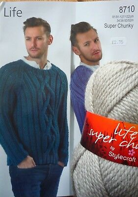 Stylecraft Life Super Chunky Gents Sweater Knitting Kit