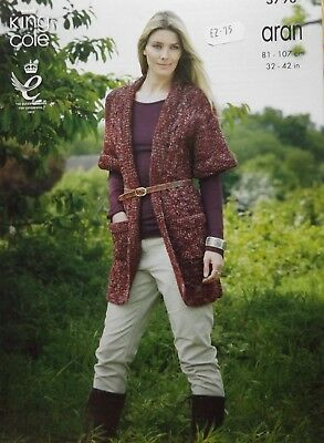 King Cole Moorland Aran Ladies Coat Knitting Kit
