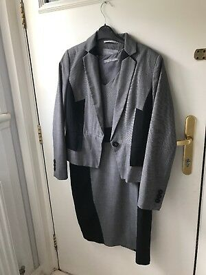 Marks Spencer Suit Dress And Jacket 2 Piece Size 14 Ladies Womens