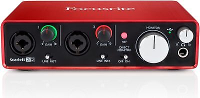 Focusrite Scarlett 2i2 (2x2 USB2 Audio Interface)
