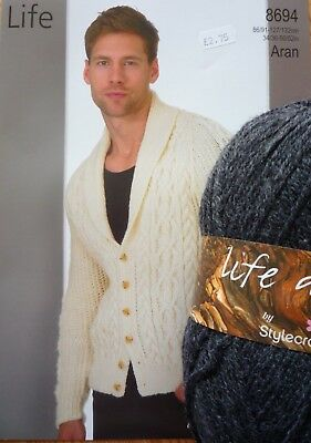 Stylecraft Life Aran Gents Jacket Knitting Kit
