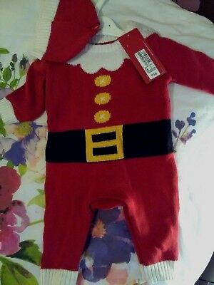 Bnwt Baby Christmas All In One Age Up To 3 Months (M&s) (Rrp £16)