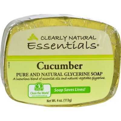 Clearly Natural Glycerine Bar Soap Cucumber - 4 Oz