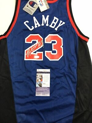 MARCUS CAMBY New York Knicks SIGNED Autographed Champion NBA JERSEY Tags JSA  COA 70bc35aed