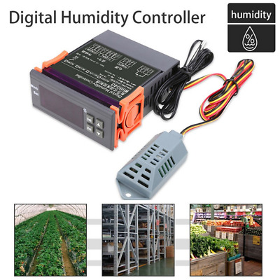 12V/24V/110V/220V Digital Air Humidity Control Controller Range 1%~99%RH Lot ER
