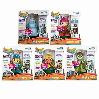 "Beat Bugs Hijinx Alive Tech 6"" Singing Toy Figure TV Buzz Jay Kumi Crick Walter"