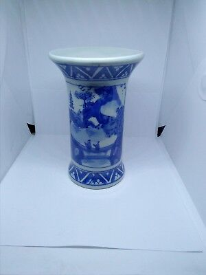 Antique late 19th century Chinese Porcelain  Vase blue and white