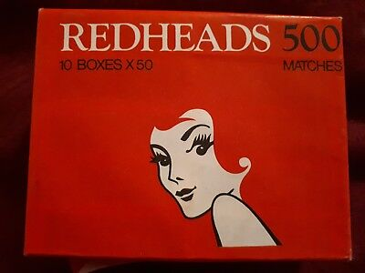 Vintage REDHEADS MATCHES PACK OF 10 BOXES UNOPENED Made in Australia
