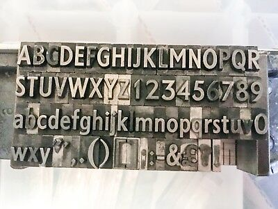 Granby letterpress lead type 18pt on 24pt good sized fount upper and lower case