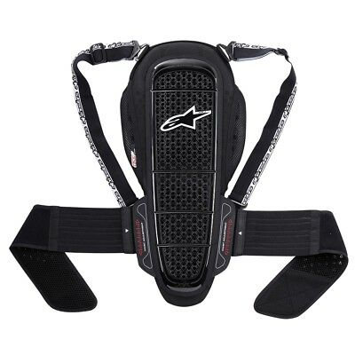 Alpinestars Nucleon KR-1 Motorcycle Back Protector Road Armour-Black.White