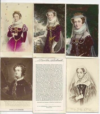 Art CDV Tinted 6 x Mary Queen of Scots incl. Mortonportrait 1860er