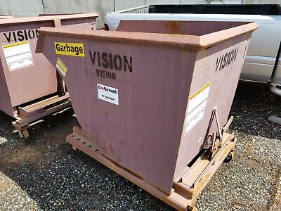 Galbreath Self Dumping Hoppers Dumpster Container 1-1/2 Yard for Forklifts