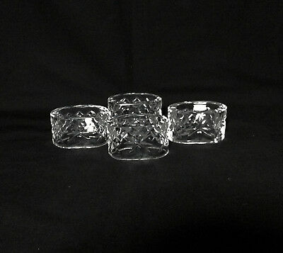 Set of 4 Waterford Crystal Oval Napkin RIngs - Comeraugh / Alana