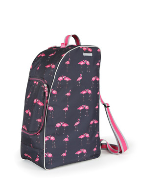 Shires Flamingo Print Riding Boot, Hat & Whip Bag