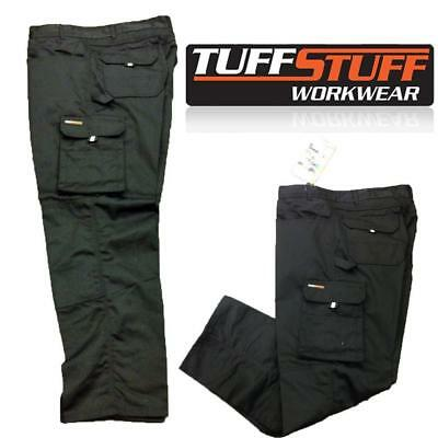 TUFF STUFF WORK TROUSER ORIGINAL STYLE 711 PRO COMBAT PANTS KNEE PAD POUCHES