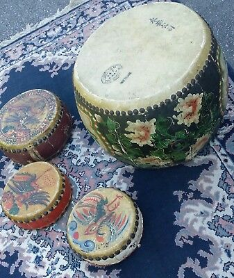 Antique Chinese Drums 4 Festival Toms