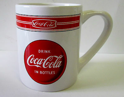 "Ceramic Coke Mug ""DRINK COCA'COLA IN BOTTLES"" by Gibson"