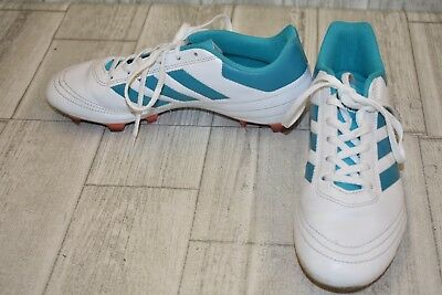 sale retailer 8f3df 5b62b adidas Goletto VI FG Soccer Cleats, Womens Size 8, WhiteTeal