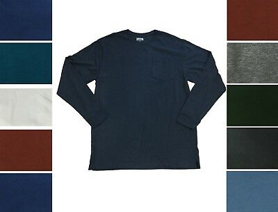 Duluth Trading Mens Longtail T Shirt Long Sleeve Cotton Crew Neck Pocket Tee