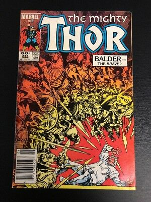 Marvel Comics The Mighty Thor # 344 June Balder The Brave ?