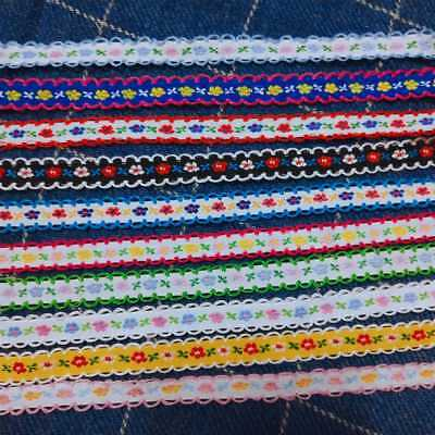 2 Yards Vintage Ribbon Embroidered Trims Laces Decorative Sewing Trims DIY Cloth