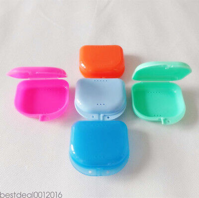 Dental Orthodontic Retainer Denture Storage Case Box Mouthguard Container Vogue