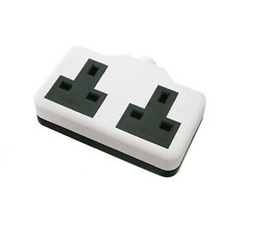 Heavy Duty13 Amp Trailing double Socket High Impact Rubberised Plastic Extension