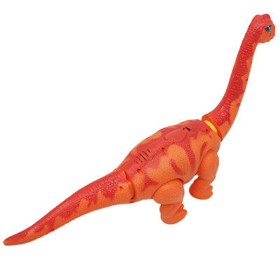Electric Walking Dinosaur Toy With Sound Laying Egg Kid Play Toy Gift Orange